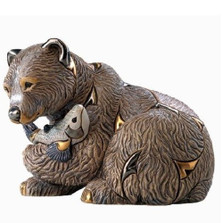 Grizzly Bear Ceramic Figurine | Rinconada