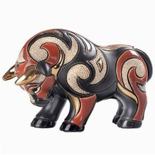 Bull Ceramic Red Figurine | Rinconada