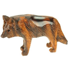 Wolf Ironwood Sculpture