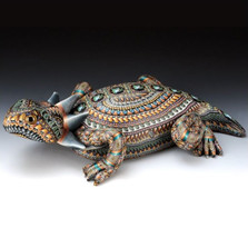 Horned Toad Papa Figurine