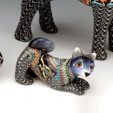 Wolf Baby Figurine