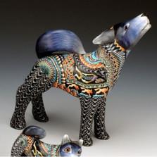 Wolf Papa Figurine