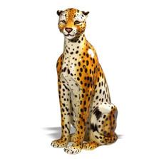 Cheetah Safari Ceramic Sculpture