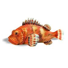 """Large Redfish Ceramic Sculpture """"Scorfano"""""""