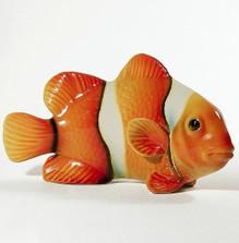 Clownfish Orange Ceramic Sculpture