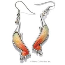 Orange Butterfly Earrings | Nature Jewelry