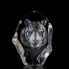 Tiger Crystal Sculpture | 33567 | Mats Jonasson Maleras