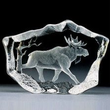 Moose Stride Crystal Sculpture | 33747