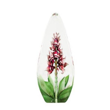 Red Orchid Flower Crystal Sculpture | 33819