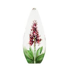 Red Orchid Flower Crystal Sculpture | 33819 | Mats Jonasson Maleras