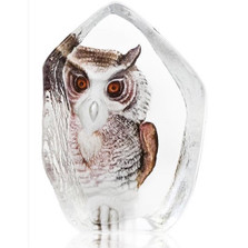 Owl Crystal Sculpture | 33863 | Mats Jonasson Maleras