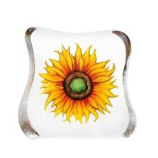 Yellow Sunflower Crystal Sculpture | 33885 | Mats Jonasson Maleras