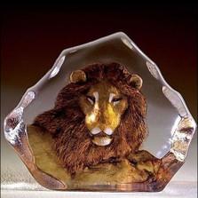 Lion Color Crystal Sculpture   33906