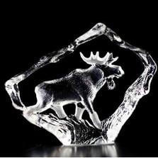 Moose Bull Mini Crystal Sculpture | 88130