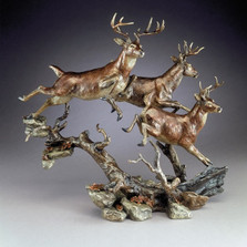"Bronze Deer Sculpture ""Elusive"""