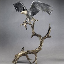 "Bronze Eagle Sculpture ""High Point"""