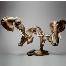 """Elephant Bronze Sculpture """"Ujamaa"""""""