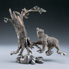 "Bronze Bear Sculpture ""Play Time"""