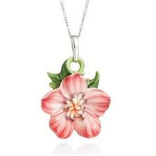 Geranium Flower Necklace | Nature Jewelry