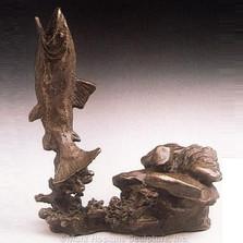 Trout Bronze Sculpture