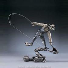 "Fisherman Bronze Sculpture ""The Moment"""