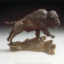 Buffalo Bronze Sculpture
