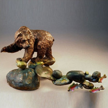 "Bear Bronze Sculpture ""Famished"""