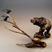 "Bear Bronze Sculpture ""Uninvited"""