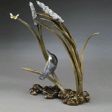 "Bronze Bird Sculpture ""Catch Ya Later"""
