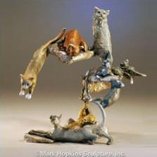"Cat Sculpture ""Nine Lives"""