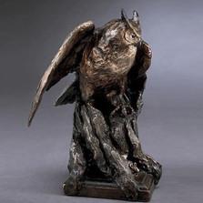 Owl Bronze Sculpture