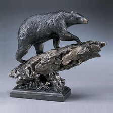 Black Bear Bronze Sculpture