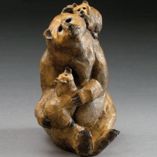 Bear Mama Bronze Sculpture