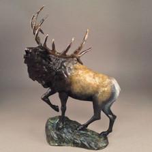 """Elk Bronze Sculpture """"Mountain Monarch"""""""