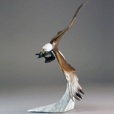 """Eagle Bronze Sculpture """"Above the Clouds"""" Small"""