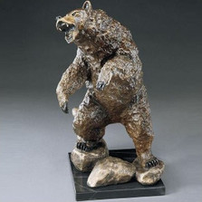 "Bear Bronze Sculpture ""Stand Off"""