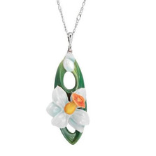 Daffodil Flower Necklace | Nature Jewelry