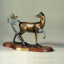 Whitetail Doe Bronze Sculpture