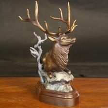 "Elk Bronze Sculpture ""Cloak N Daggers"""