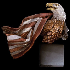 """Eagle with Flag Sculpture """"Symbols of Honor"""""""