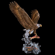 """Eagle Sculpture """"Clear Waters"""""""