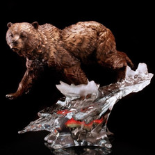 "Bear Sculpture ""Solitary Hunter"""
