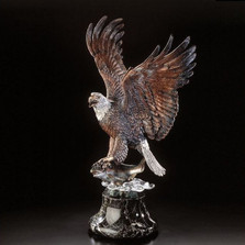 "Eagle Sculpture ""Over the Rainbow"""