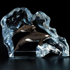 Orca Wave Sculpture