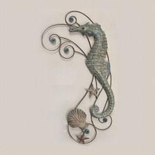 Seahorse Wave Wall Sculpture Facing Left