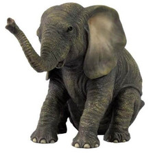 Sitting Baby Elephant Sculpture