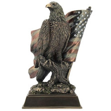 Eagle Sculpture with Stars N Stripes
