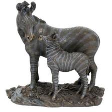 Zebra and Baby Sculpture