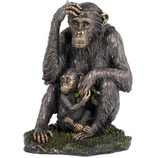 Chimpanzee and Baby Sculpture
