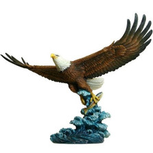 Eagle Catching Fish Sculpture